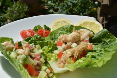 HCG recipe, spicy crab salad