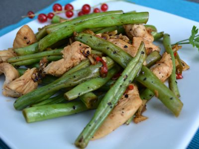 spicy chicken with green beans